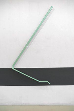 Carambolage 2017, Stahl/PVC, 217x120x12 cm