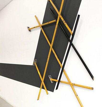 Tight Crossings 2020, Stahl, 235x190x9 cm