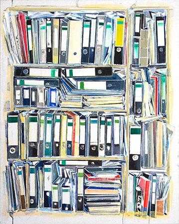 Homeoffice Ölfarbe auf Leinwand, 2020, 140 x 110 cm