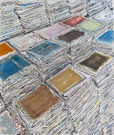 Ohne Titel Ölfarbe auf Leinwand, 2019, 130 x 110 cm