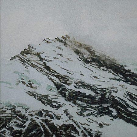 Alpenstück 5/1 2013, 200 x 200 cm, Ölfarbe / Leinwand