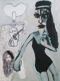 Amy Winehouse 2013, Acryl/Kreide/Leinwand, 210 x 155 cm