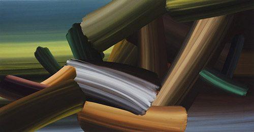 Zu Jean-Baptiste Oudry 2013, Acryl auf Leinwand, 90 x 170 cm