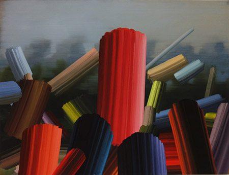 Schutzmantel II, 2017, Acryl auf Leinwand, 145 x 200 cm