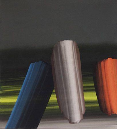 Nordlicht, 2013, Acryl auf Leinwand, 100 x 90 cm