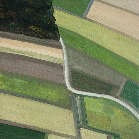 Landschaft 13/IX 2017, 70 x 70 cm, Ölfarbe/Leinwand