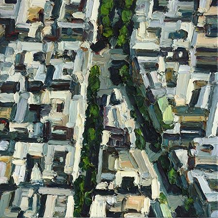 Paris 8/XI 2016, 70 x 70 cm, Ölfarbe / Leinwand