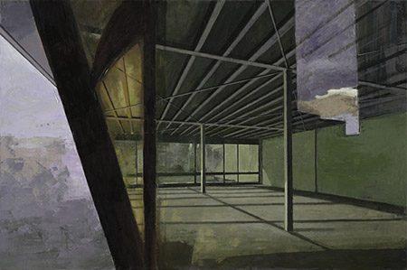 Lieu Caché 2017, 80 x 1520 cm, Öl/Leinwand