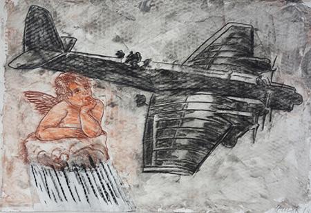 Himmlische Begegnung 2013, MT auf Lwd., 80 x 110 cm