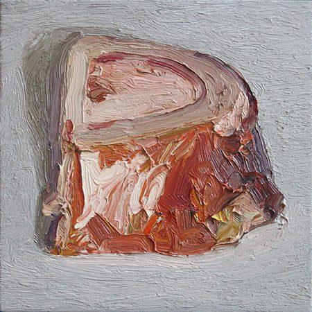 Markknochen 1 2014, 30 x 30 cm, Ölfarbe/Leinwand