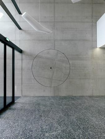 TONDO 2011, Beton, gesägt und gedreht, Universitätsneubau VS-Schwenningen