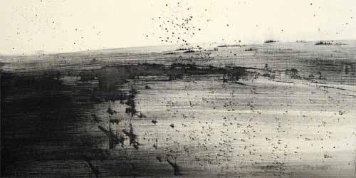 Hohes Land 2007, Öl/Lwd., 50 x 100 cm