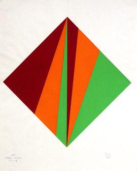 Ohne Titel 1988, Serigrafie, Papierformat 70 x 55 cm, Auflage 100, signiert vergriffen