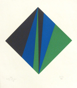 Ohne Titel 1988, Serigrafie, Papierformat 70 x 60 cm, Auflage 100, signiert vergriffen