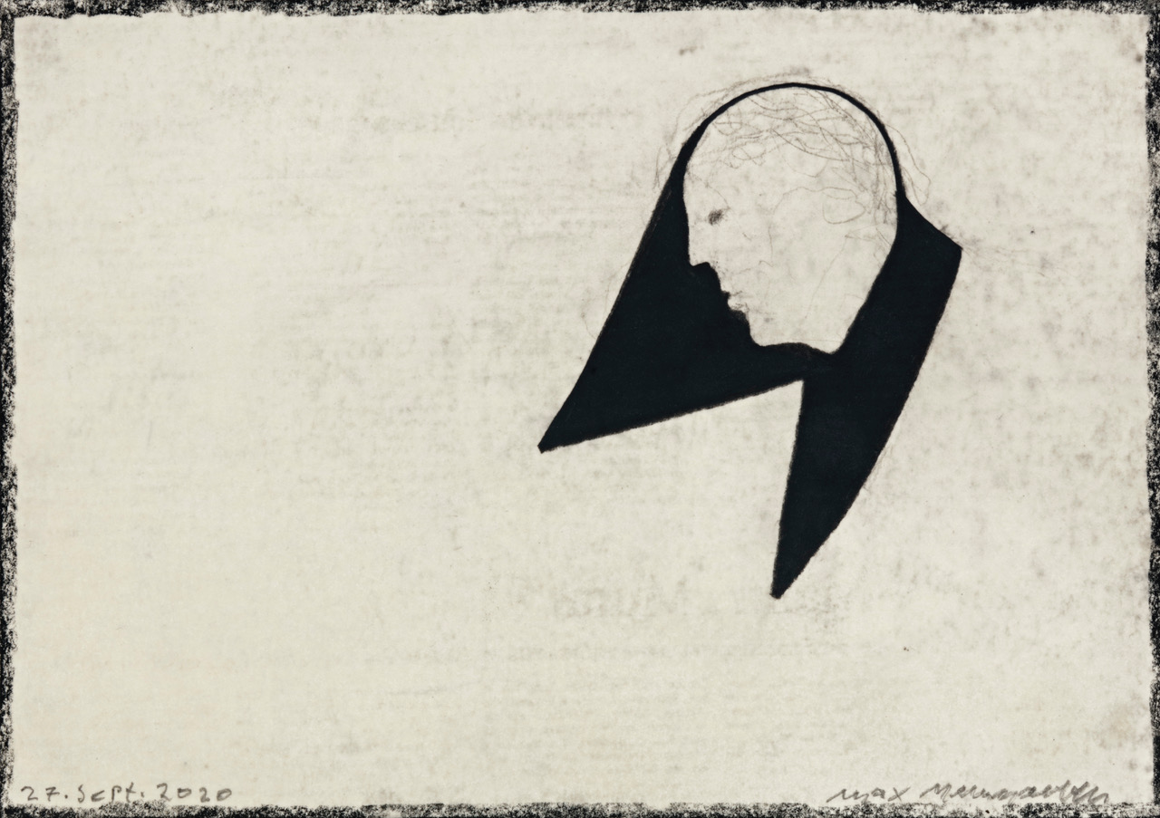 o.T., 27. Sept. 2020, Mischtechnik auf Papier, 21x29,7cm